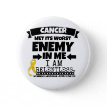 Neuroblastoma Cancer Met Its Worst Enemy in Me Pinback Button