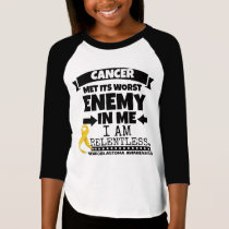 Neuroblastoma Cancer Met Its Worst Enemy in Me T-Shirt