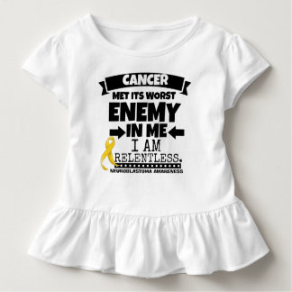 Neuroblastoma Cancer Met Its Worst Enemy in Me Toddler T-shirt