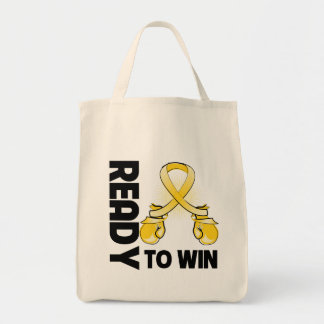Neuroblastoma Cancer Ready To Win Grocery Tote Bag