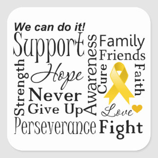 Neuroblastoma Cancer Supportive Words Sticker