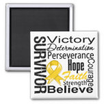 Neuroblastoma Cancer Survivor Collage Refrigerator Magnet