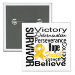 Neuroblastoma Cancer Survivor Collage Pins