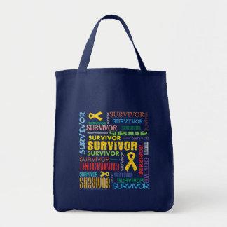 Neuroblastoma Cancer Survivor Collage.png Canvas Bags