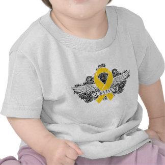 Neuroblastoma Cancer SURVIVOR Winged Ribbon Shirts