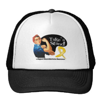 Neuroblastoma Cancer Take a Stand Mesh Hat