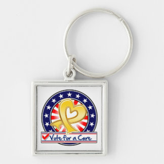 Neuroblastoma Cancer Vote For a Cure Key Chains
