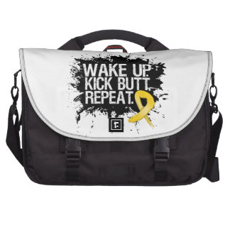Neuroblastoma Cancer Wake Up Kick Butt Repeat Bags For Laptop