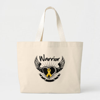 Neuroblastoma Cancer Warrior Fighter Wings Jumbo Tote Bag
