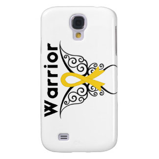 Neuroblastoma Cancer Warrior Tribal Butterfly Galaxy S4 Case