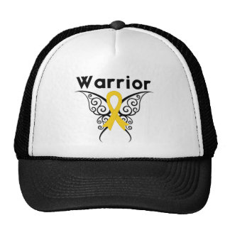 Neuroblastoma Cancer Warrior Tribal Butterfly Hat