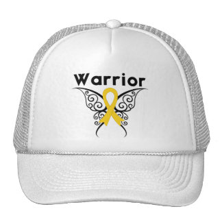 Neuroblastoma Cancer Warrior Tribal Butterfly Mesh Hat