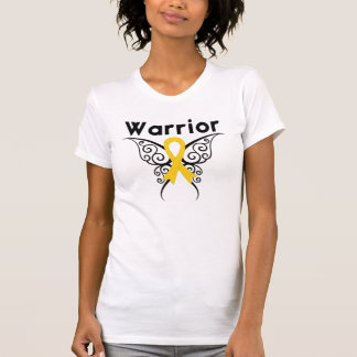 Neuroblastoma Cancer Warrior Tribal Butterfly T Shirt