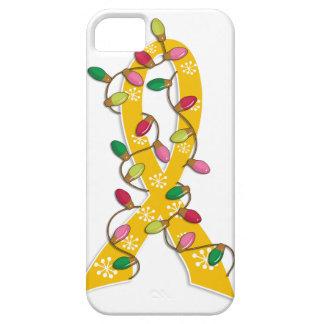 Neuroblastoma Christmas Lights Ribbon iPhone 5 Cases