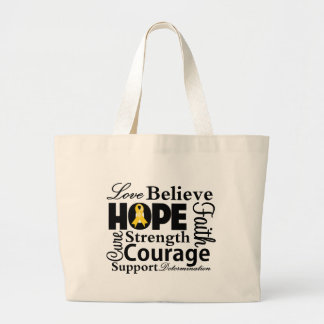 Neuroblastoma Collage of Hope Canvas Bags