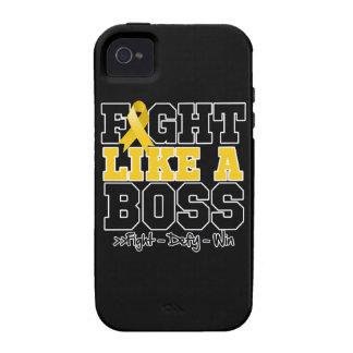 Neuroblastoma Fight Like a Boss Vibe iPhone 4 Covers