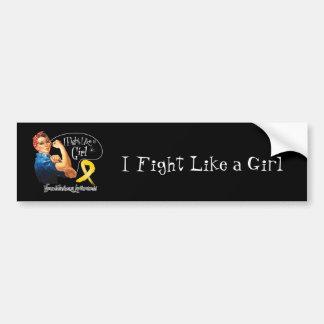 Neuroblastoma Fight Like a Girl Rosie The Riveter Car Bumper Sticker