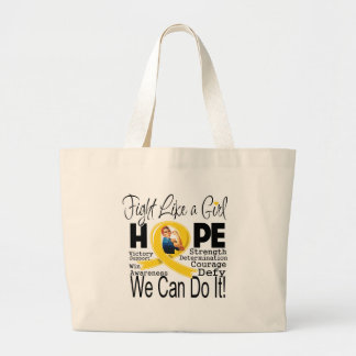 Neuroblastoma Fight We Can Do It Canvas Bags