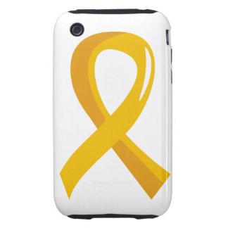 Neuroblastoma Gold Ribbon 3 iPhone 3 Tough Cover