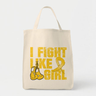 Neuroblastoma I Fight Like A Girl (Grunge) Grocery Tote Bag