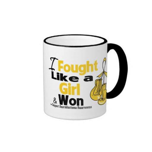 Neuroblastoma I Fought Like a Girl and Won Coffee Mug