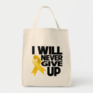 Neuroblastoma I Will Never Give Up Grocery Tote Bag