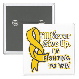 Neuroblastoma I'll Never Give Up 2 Inch Square Button