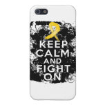 Neuroblastoma Keep Calm and Fight On iPhone 5 Cover