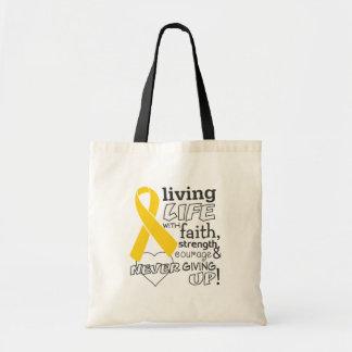 Neuroblastoma Living Life With Faith Tote Bag