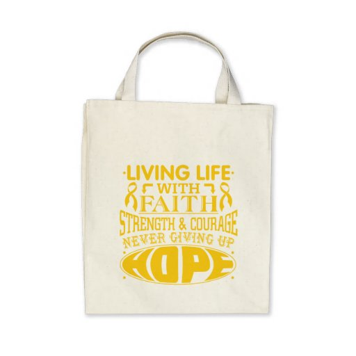Neuroblastoma Living Life with Faith Bag