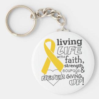 Neuroblastoma Living Life With Faith Basic Round Button Keychain