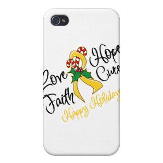 Neuroblastoma Love Hope Holidays iPhone 4/4S Covers