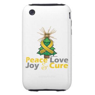 Neuroblastoma Peace Love Joy Cure Tough iPhone 3 Case