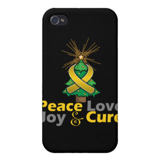 Neuroblastoma Peace Love Joy Cure iPhone 4/4S Cases