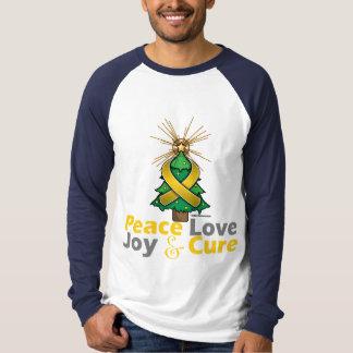 Neuroblastoma Peace Love Joy Cure Shirts
