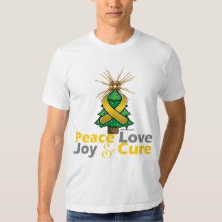 Neuroblastoma Peace Love Joy Cure Tee Shirt