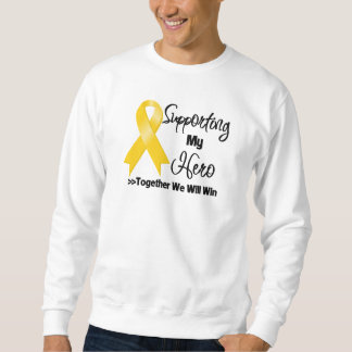 Neuroblastoma que apoya a mi héroe sudadera con capucha