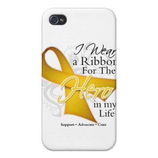 Neuroblastoma Ribbon Hero in My Life iPhone 4/4S Cases