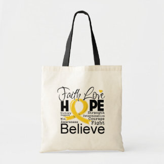 Neuroblastoma Typographic Faith Love Hope Bag