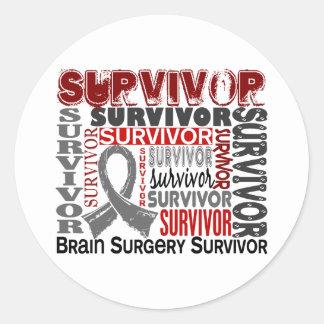 Neurocirugía del superviviente 10 pegatina redonda