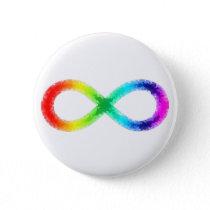 Neurodiversity button, white button