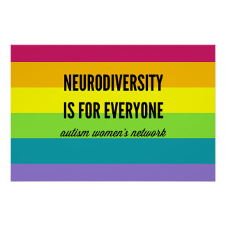 Neurodiversity is for Everyone Poster (rainbow)