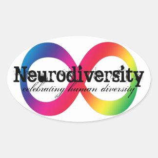 Neurodiversity Oval Sticker