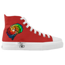 Neurodiversity Pride Rainbow Brain High-Tops