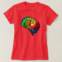 Neurodiversity Pride Rainbow Brain Shirt