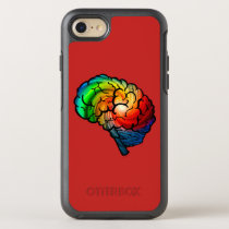 Neurodiversity Rainbow Brain Phone Case
