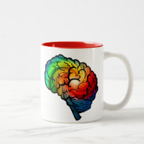 #neurodiversity Rainbow Brain Unicorn Coffee Mug