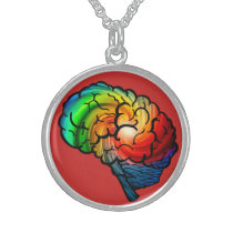 Neurodiversity Rainbow Brian Necklace