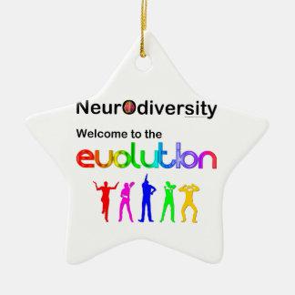 Neurodiversity Welcome to the Evolution Ceramic Ornament