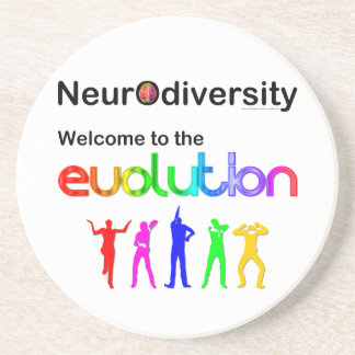 Neurodiversity Welcome to the Evolution Drink Coaster